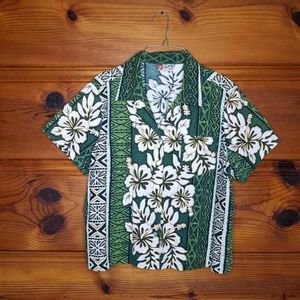 Hilo Hattie The Hawaiian Original Green Floral XL